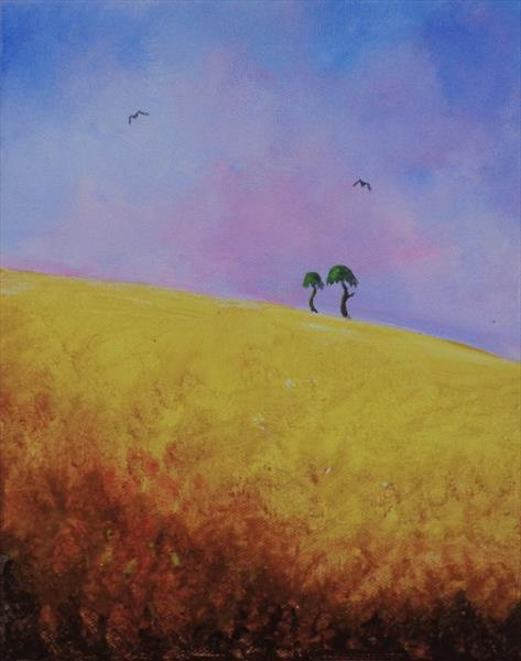 Hilltop Trees by Jean Tatton Jones