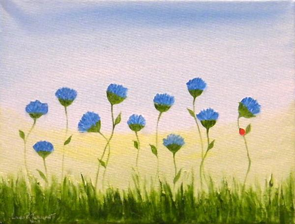 Wild Cornflowers by Roselind A'rt