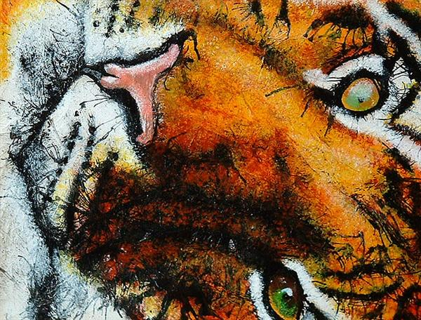 Playful Tiger by Guy Wooles
