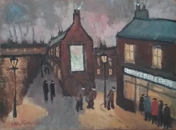 """""""Friday Night, Fish and Chips"""" by Neil Ferguson"""