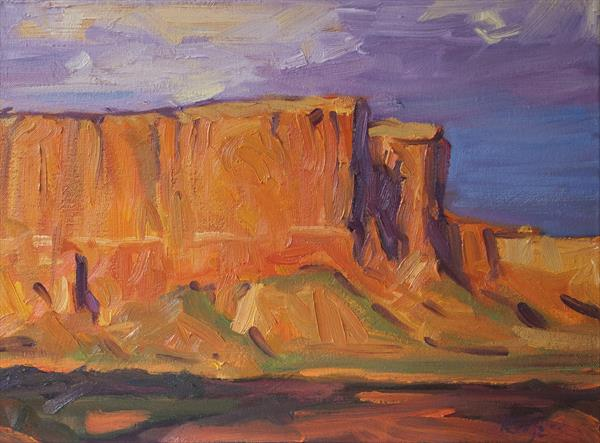 The Red Cliffs study after Edgar Payne by Daniel Rodgers