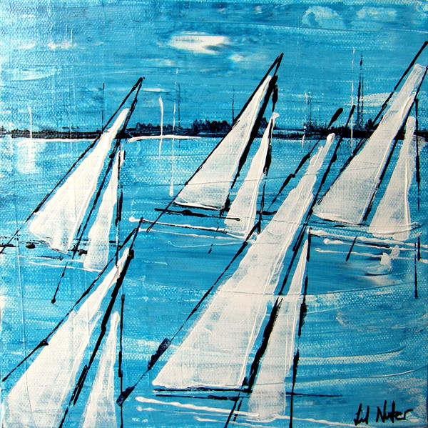 Sailing By in Blue by Lil Nutter