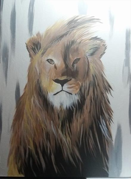 Lion in Lines by Natalie Bowell
