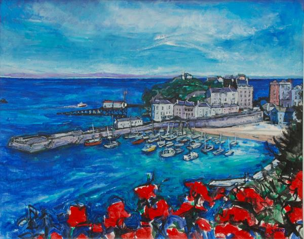 Tenby Harbour,  Wales (Giclee print) by Patricia Clements
