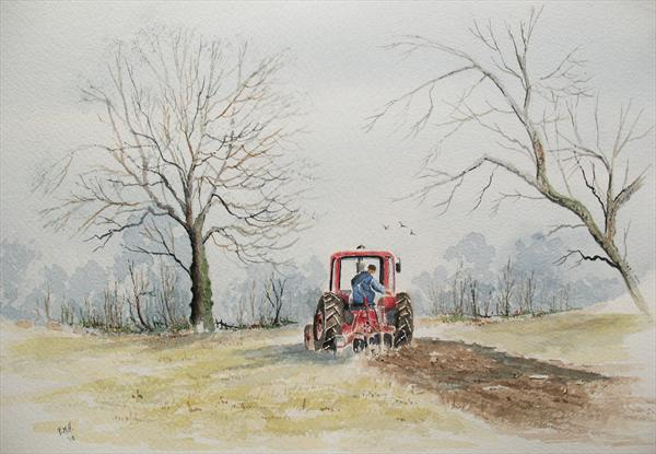Ploughing in Autumn