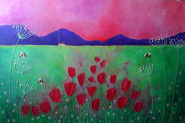 Red Tulips by Angie Livingstone