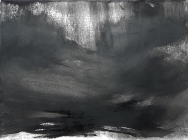 Abstraction in Monochrome' Light in the Darkness 5 ' by Wendy Hyde