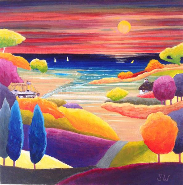 Sunset Over the Bay by Suzie Wainman