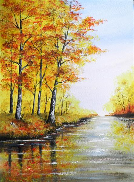 Autumn River by Sarah Featherstone