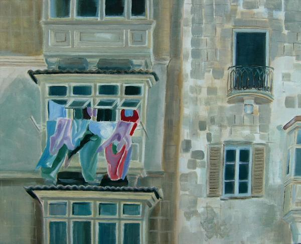 Washday in Malta by Mary Stubberfield