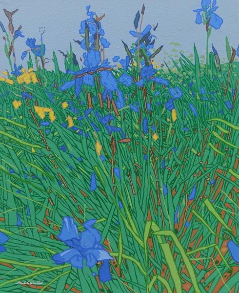 Wild Irises by Malcolm Warrilow