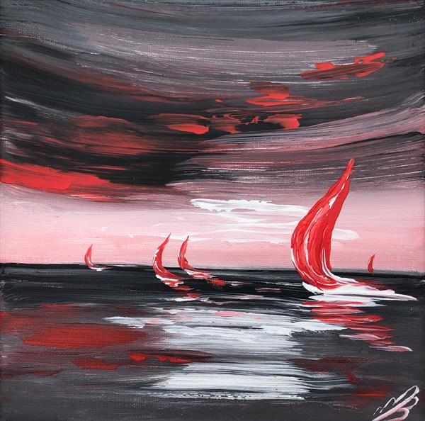 Red Sails in the Sunset by Marja Brown