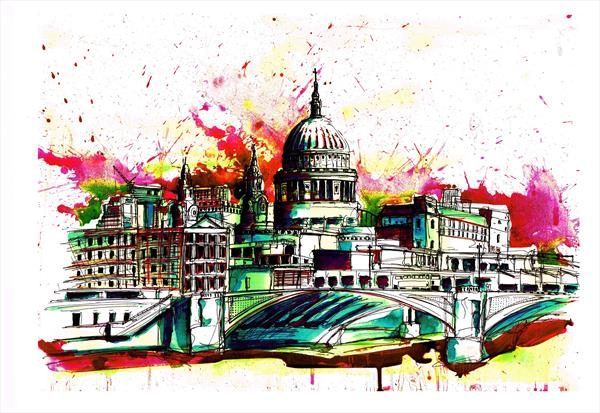 Funky St Paul's (print) by Keith Mcbride