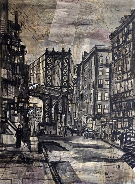 Old New York (Original) by Phillip  Ward