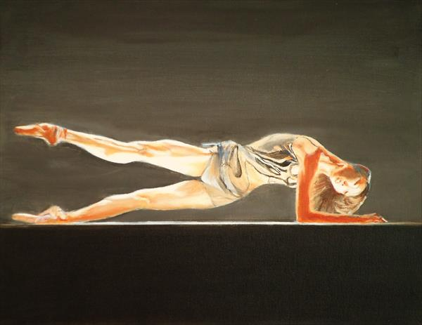 Reclining Ballerina by Victor White