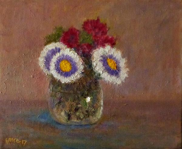 Flowers in a Vase by David Moore