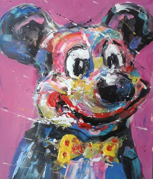 Mickey with pink
