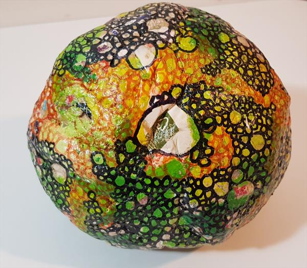Misshapen Sphere - Green and Yellow by Devrim X Gina