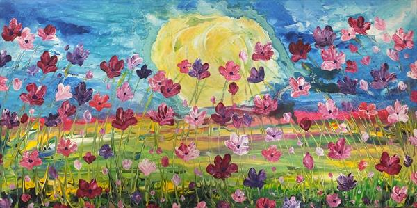Large Quantities Of Blooms 2 (Panoramic) by Hester Coetzee