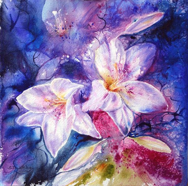 Wild Lilies Limited Edition Print by Stella Dunkley