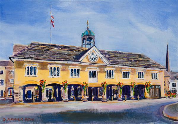 TETBURY MARKET HALL FROM LONG STREET by Diana Aungier - Rose