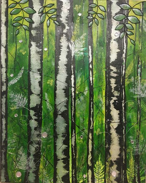 Birch Trees by Rosalie Sampson
