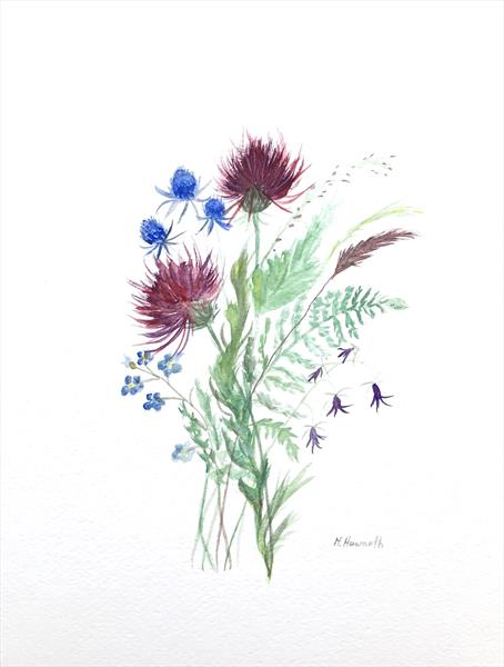 Wild flowers bouquet  by Monika Howarth