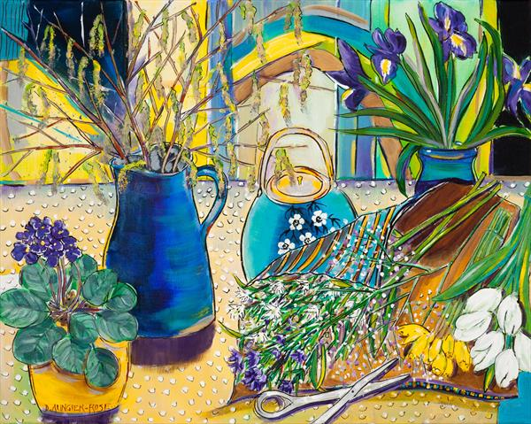 STILL LIFE, FIRST SIGNS OF SPRING by Diana Aungier - Rose
