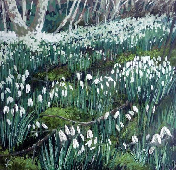 First Snowdrops by Tracy Butler