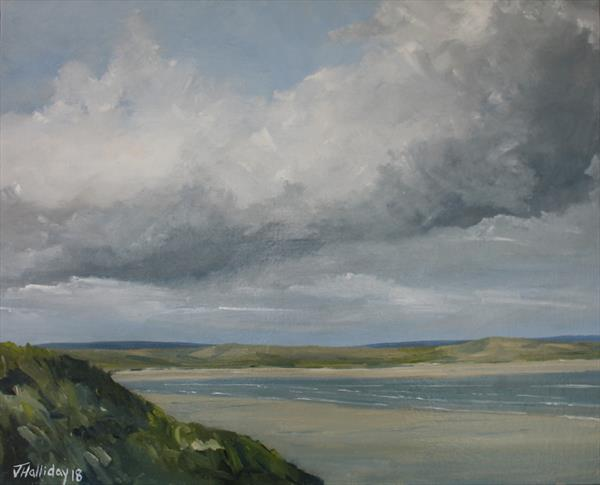 Dundrum Bay from the dunes, Ireland by John Halliday