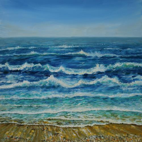 Waves Study by Sandra Francis