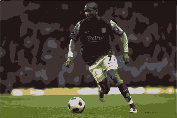 Ashley Young - Footballer by Sue Rowe