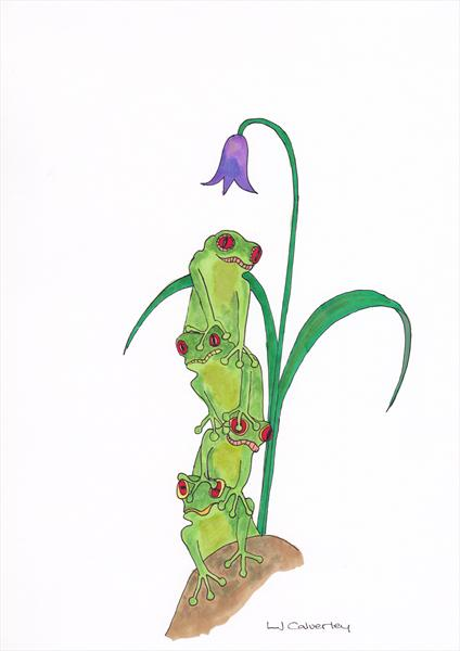 Frogs On Top by Linda Calverley