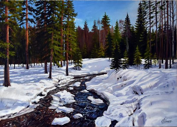 Sunny day in the pine forest by Serghei Ghetiu