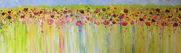 Splash Of Colour 2 (Panoramic) by Hester Coetzee