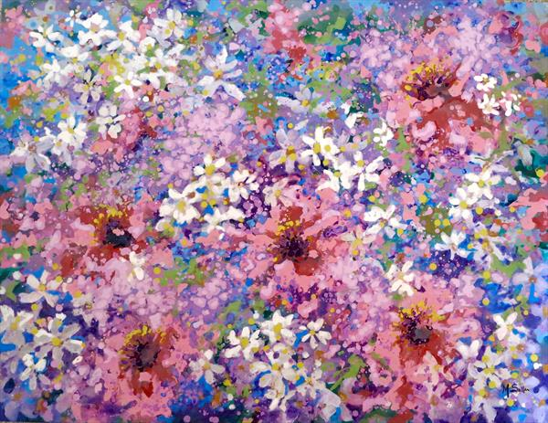Flowers in movement by Marilene Salles