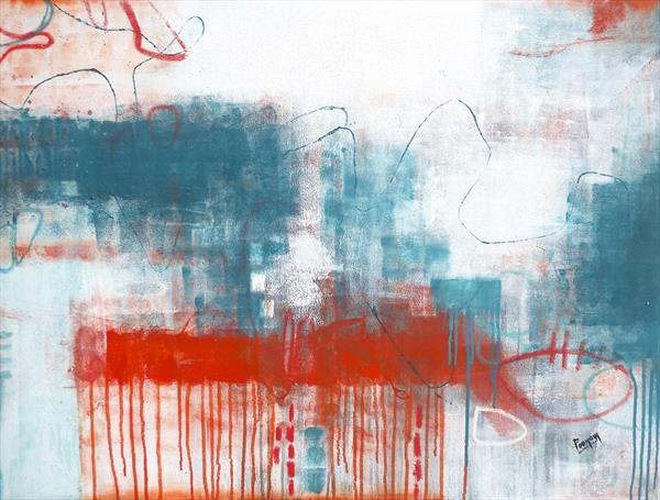 abstract canvas painting - Deep Desire  by Poonam choudhary