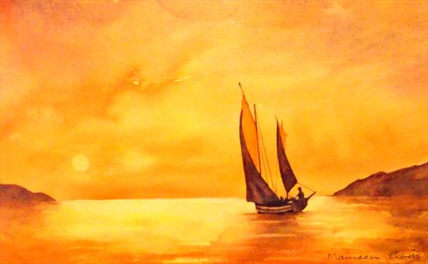 Sunset Sails by Maureen Crofts