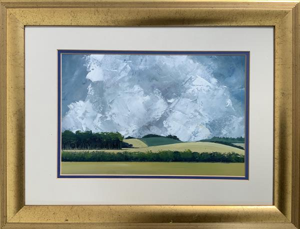 The heart of a French  summer ( framed original oil ) by Sarah Gill