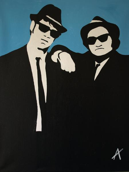 The Blues Brothers Jake & Elwood by Adrian Clark
