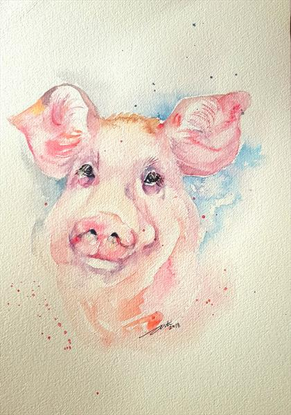 Pink Pike Pig by Arti Chauhan