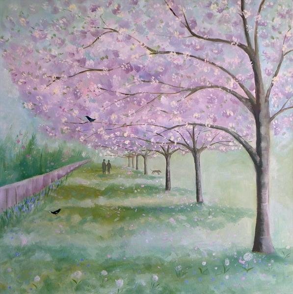 Blossom Tree Walk by Mary Stubberfield