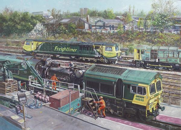 Southampton Freightliner Train Maintenance by Martin  Davey