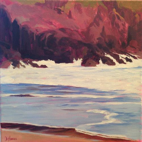 Red Rocks and Waves by Dawn Harries