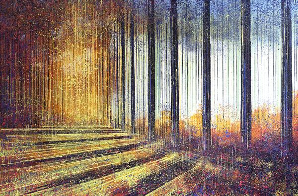 Tall Trees In Autumn by Marc Todd