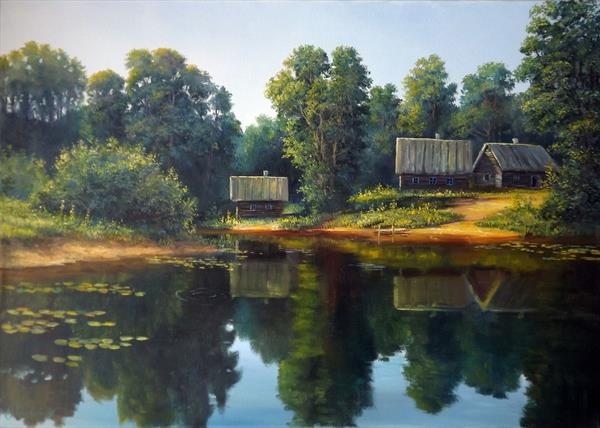 Hut in the woods 2 by Oleg Riabchuk