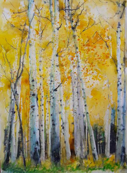 Silver Birches by Teresa Tanner