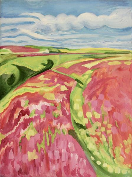 Colourful British Landscape by Miranda Net