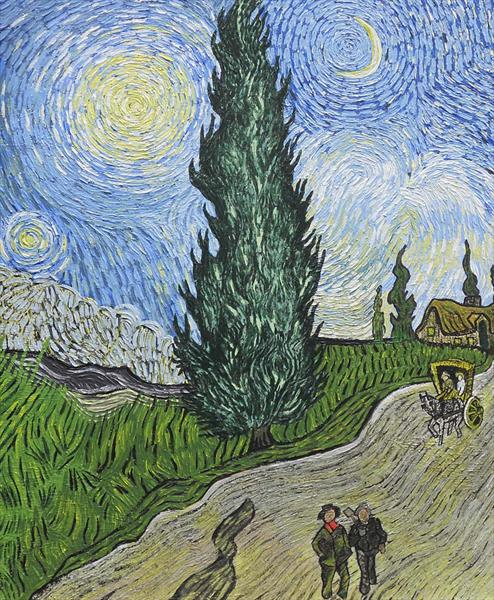 Homage To Van Gogh's 'a Country Road At Night' by Paul Vaccari