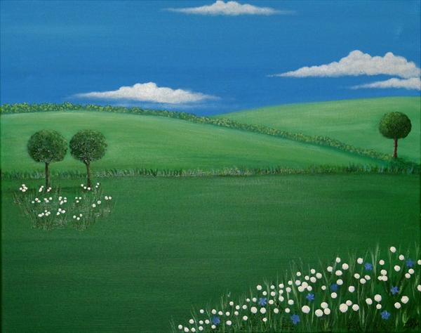 Spring Countryside. by Jacqueline Moore